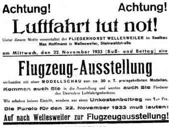 """Ausstellung """"Luftfahrt tut not"""""""