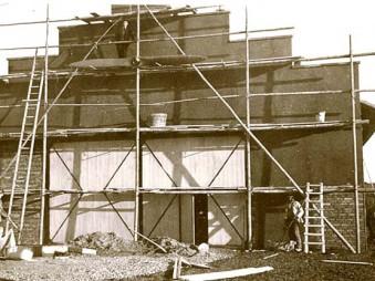 Bau der Richtenhofhalle